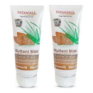 Buy Patanjali Aloevera Multani Mitti Face Pack (Pack Of 2) - Nykaa
