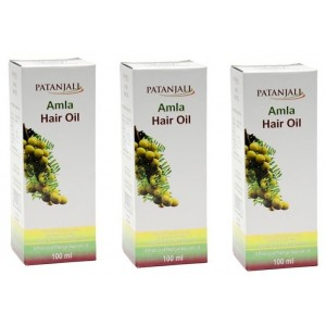 Buy Patanjali Amla Hair Oil (Pack Of 3) - Nykaa