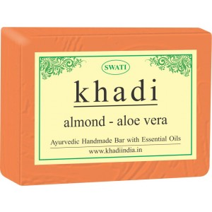 Buy Swati Khadi Almond Aloe Vera Soap - Nykaa