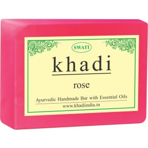 Buy Swati Khadi Rose Soap - Nykaa
