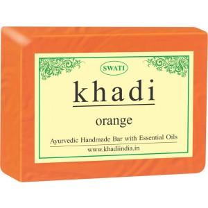 Buy Swati Khadi Orange Soap - Nykaa