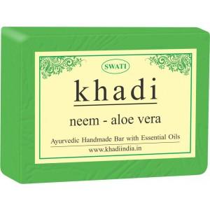 Buy Swati Khadi Neem - Aloe Vera Soap - Nykaa