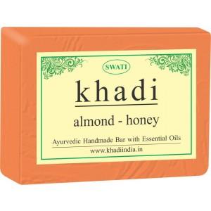 Buy Swati Khadi Almond - Honey Soap - Nykaa