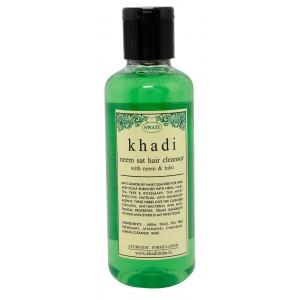 Buy Swati Khadi Neem Sat With Neem & Tulsi Hair Cleanser - Nykaa