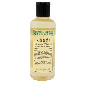 Buy Swati Khadi Tea Tree & Rosemary Anti Dandruff Hair Oil - Nykaa