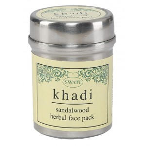 Buy Swati Khadi Sandalwood Herbal Face Pack - Nykaa
