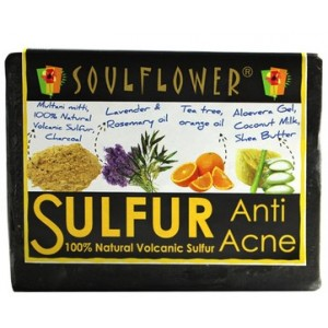Buy Soulflower Anti Acne Sulfur Soap - Nykaa