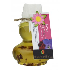 Buy Soulflower Rose Geranium Aroma Massage Oil - Nykaa