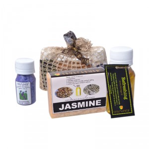 Buy Soulflower Jute  Mini Bathset With Lavender - Nykaa