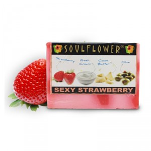 Buy Soulflower Sexy Strawberry Soap - Nykaa