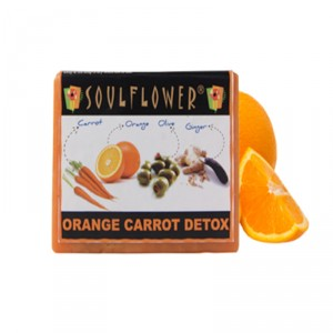 Buy Soulflower Orange Carrot Detox Soap - Nykaa