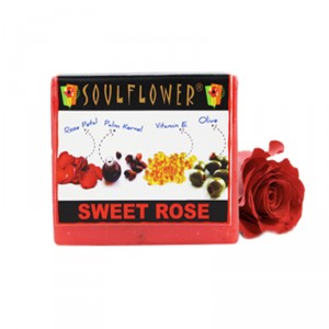 Buy Soulflower Sweet Rose Soap - Nykaa