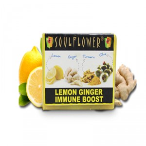 Buy Herbal Soulflower Lemon Ginger Immune Boost Soap - Nykaa