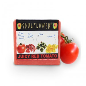 Buy Soulflower Juicy Red Tomato Soap - Nykaa