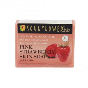 Buy Soulflower Pink Strawberry Skin Soap - Nykaa