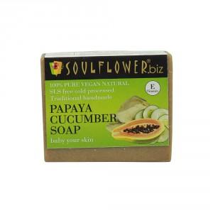 Buy Soulflower Papaya Cucumber Baby Your Skin Soap - Nykaa