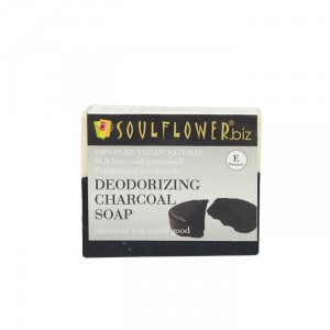 Buy Soulflower Deodorizing Charcoal Soap - Nykaa