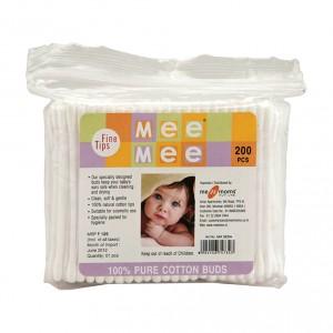 Buy Mee Mee Ear Cotton Buds White - (200 pcs) - Nykaa