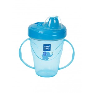 Buy Mee Mee Twin Handle Non-Spill Feeding Cup (With Dust Free Cover) - Dark Blue - Nykaa