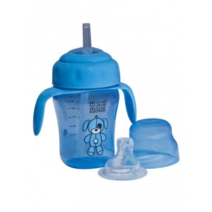 Buy Mee Mee 2 In 1 Spout/Straw Training cup - Blue - Nykaa
