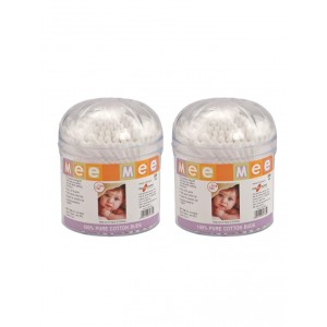 Buy Mee Mee Ear Cotton Buds White - (200 pcs) White (Pack of 2) - Nykaa