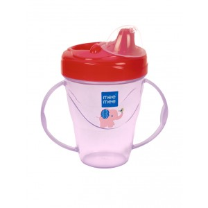 Buy Mee Mee Twin Handle Non-Spill Feeding Cup (With Dust Free Cover) - Pink - Nykaa