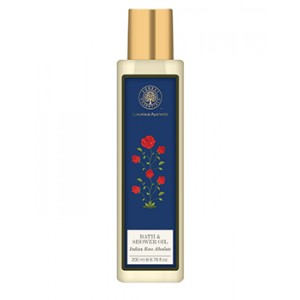 Buy Herbal Forest Essentials Moisture Replenishing Bath & Shower Oil - Indian Rose Absolute - Nykaa