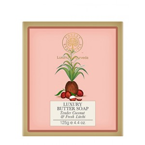 Buy Herbal Forest Essentials Luxury Butter Soap Tender Coconut & Fresh Lychee - Nykaa