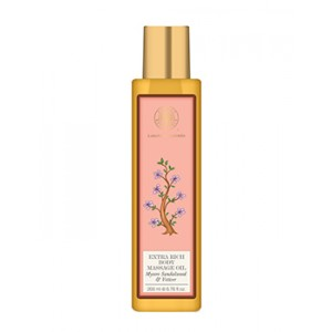 Buy Forest Essentials Extra Rich Almond Body Massage Oil Mysore Sandalwood & Vetiver - Nykaa
