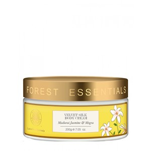 Buy Forest Essentials Velvet Silk Body Cream Madurai Jasmine & Mogra - Nykaa