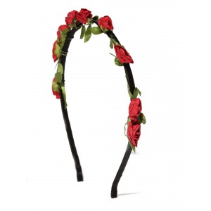 Buy Toniq Ecstasy Red Floral Hair Band - Nykaa
