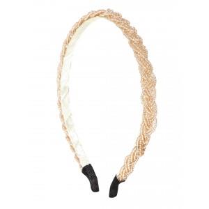 Buy Toniq  Gold Braided Hair Band - Nykaa
