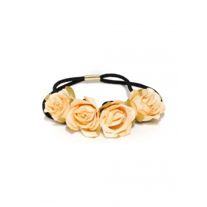 Buy Toniq  Orange Floral Rubber Band - Nykaa
