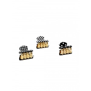 Buy Toniq Gingerbread Black Hair Clips - Nykaa