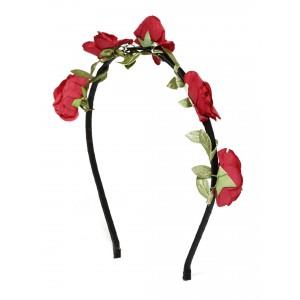Buy Toniq Bohemia Red Flower Hair Band  - Nykaa