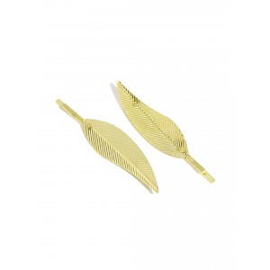 Buy Toniq Gilded Leaf Bobby Pin Set - Nykaa