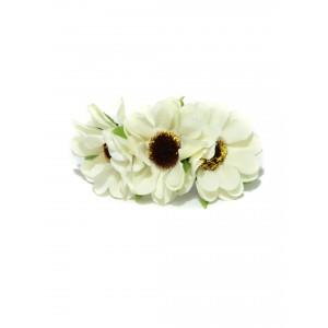 Buy Toniq Daisy White Rubber Band - Nykaa