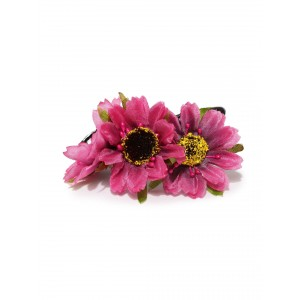 Buy Toniq Daisy Fuschia Rubber Band - Nykaa