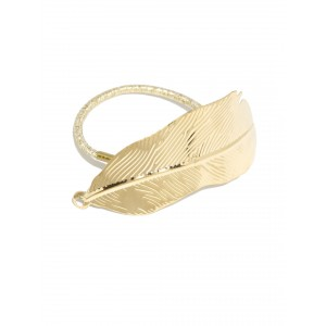Buy Toniq Feather Gold Shine Rubber Band - Nykaa