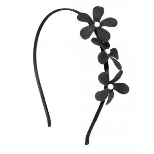 Buy Toniq Black Tri Bloom Hair Band - Nykaa