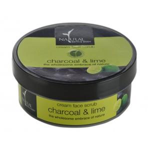 Buy Natural Bath & Body Charcoal & Lime Cream Face Scrub - Nykaa