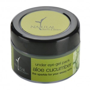 Buy Natural Bath & Body Under-Eye Gel Pack - Aloe Cucumber - Nykaa