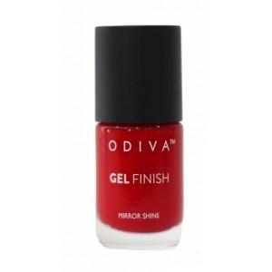 Buy Odiva Gel Finish Nail Polish - 01 Cherry Pie - Nykaa