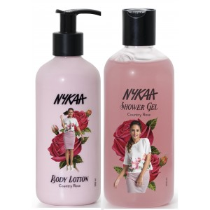 Buy Nykaa Country Rose Combo - Body Lotion & Shower Gel - Nykaa