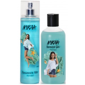 Buy Herbal Nykaa Fresh Aqua Combo - Fragrance Mist & Shower Gel - Nykaa