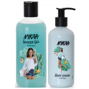 Buy Nykaa Fresh Aqua Combo - Body Lotion & Shower Gel - Nykaa