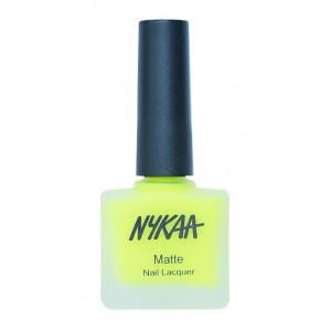 Buy Nykaa Neon Matte Nail Enamel - Lemonade Fizz - Nykaa