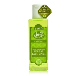 Buy Vagad's Khadi Aloe Vera & Neem Herbal Face Wash - Nykaa