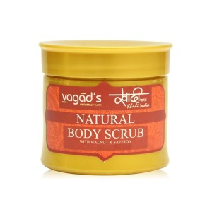 Buy Vagad's Khadi Body scrub with Walnut & Saffron - Nykaa
