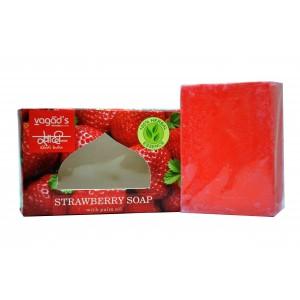 Buy Vagad's  Khadi Strawberry Handmade Soap - Nykaa